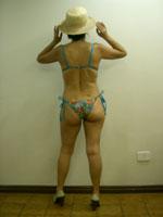 As costas dos maiôs