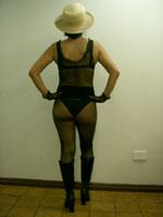 Meia arrastão de corpo inteiro com faixa (costas)